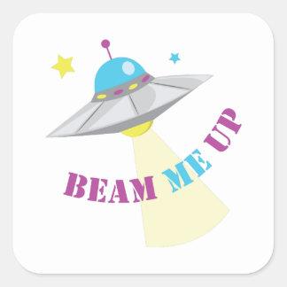 Beam Me Up Square Sticker
