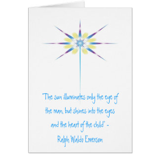 """Beam of Light, """"The sun illuminates only the ey... Greeting Card"""