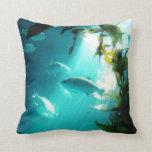 Beam of Light Underwater Fish Swimming Pillow