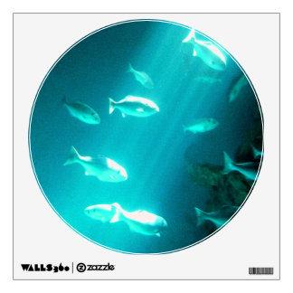 Beam of Light Underwater Fish Swimming Room Decal