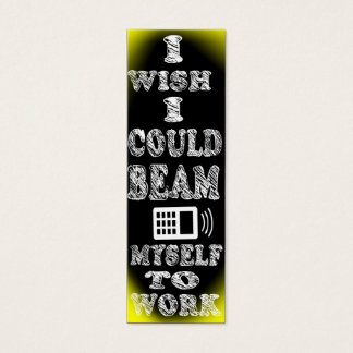 beam to work commuter bookmark mini business card