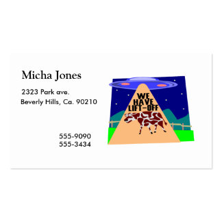 Beam Up Cow Business Card