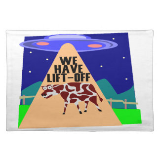 Beam Up Cow Cloth Placemat