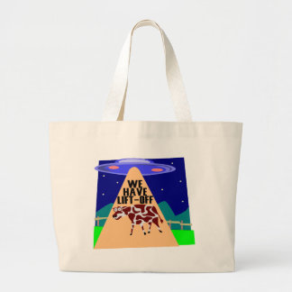 Beam Up Cow Large Tote Bag