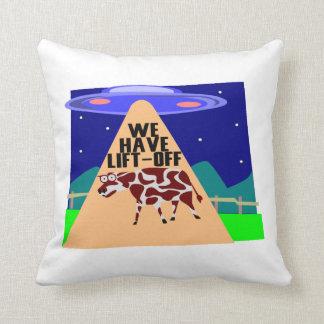 Beam Up Cow Pillow