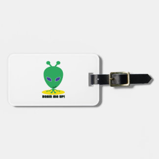 Beam Up! Luggage Tags