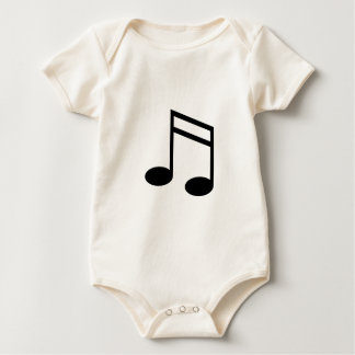 Beamed 16th Notes Baby Bodysuit