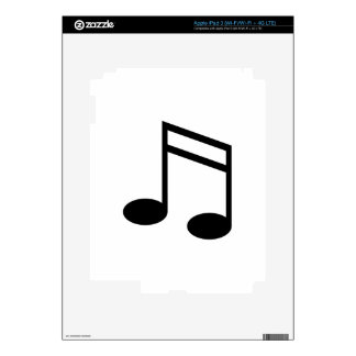 Beamed 16th Notes Decal For iPad 3