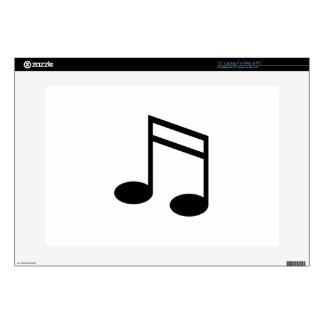 Beamed 16th Notes Decal For Laptop