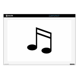 """Beamed 16th Notes 17"""" Laptop Skin"""