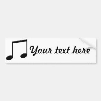 Beamed Note Music Symbol Bumper Sticker