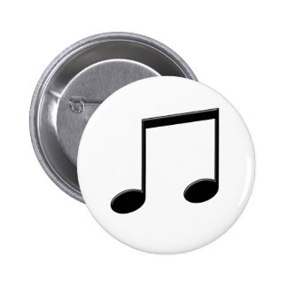 Beamed Note Music Symbol Button