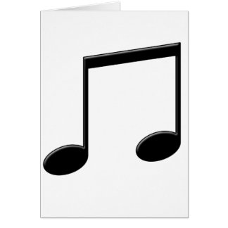 Beamed Note Music Symbol Card