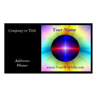 Beaming Crystal Power Business Cards