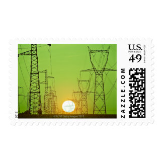 Beaming Sun Postage Stamp