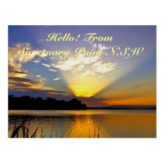 Beaming Sunset Postcard