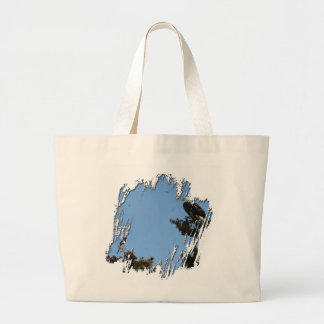 BEAMS Bald Eagle and Magpie Staredown Large Tote Bag