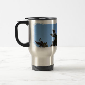 BEAMS Bald Eagle and Magpie Staredown 15 Oz Stainless Steel Travel Mug