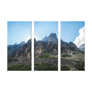 Beams of light in the high mountains of Tatra Canvas Print