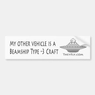Beamship Type - 3 Craft Car Bumper Sticker