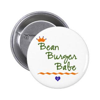 Bean Burger Babe Button