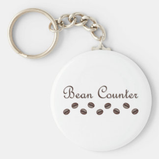 Bean Counter Basic Round Button Keychain