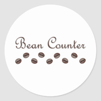 Bean Counter Classic Round Sticker
