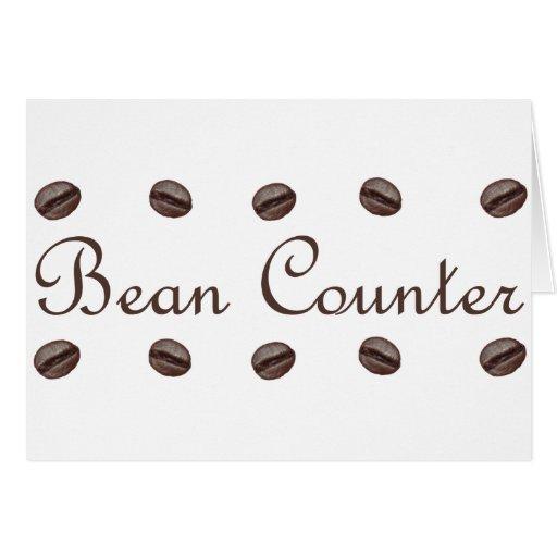 Bean Counter Greeting Card