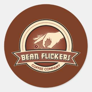 Bean Flickers Coffee Company Classic Round Sticker