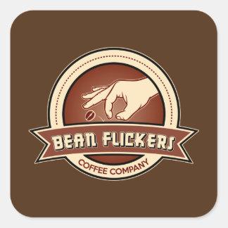 Bean Flickers Coffee Company Square Sticker