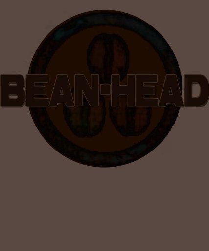 Bean-Head -Funny Coffee T-Shirts Brown