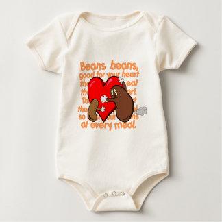 Bean_Heart_Poem Baby Bodysuit