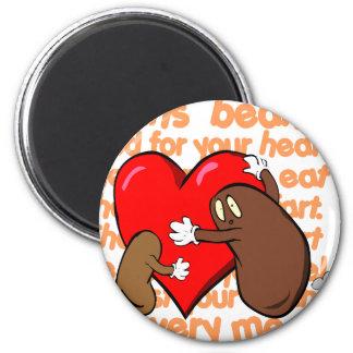 Bean_Heart_Poem Refrigerator Magnet