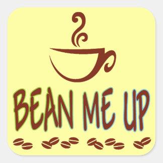 Bean Me Up Square Sticker