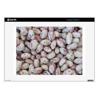 Bean rounded with red specks texture background decal for laptop