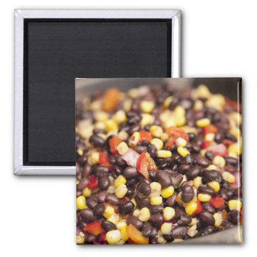 Bean Salad 2 Inch Square Magnet