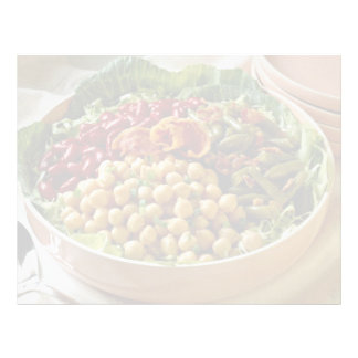 Bean salad for food lovers personalized letterhead