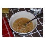 Bean Soup Recipe on a Card