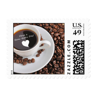 Bean-tastic Coffee Celebration Postage Stamps