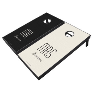 Beanbag Toss Mr & Mrs Black and White Lawn Game
