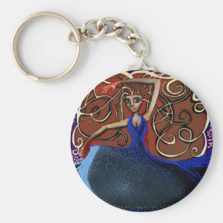 Beanca on the Eve of the Summer Solstice. Keychain