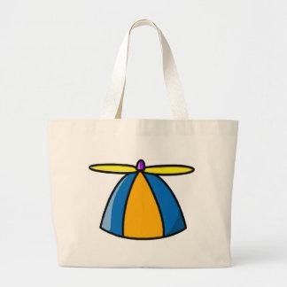 Beanie With Propeller Jumbo Tote Bag
