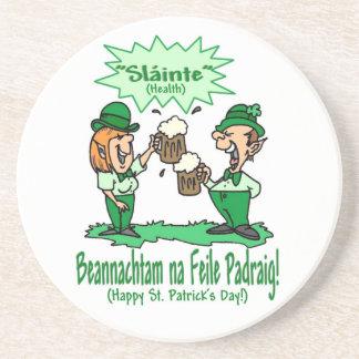 BEANNACHTAM NA FEILE PADEAIG Happy St Patricks Day Drink Coaster