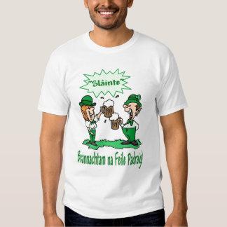 BEANNACHTAM NA FEILE PADEAIG Happy St Patricks Day Tee Shirts