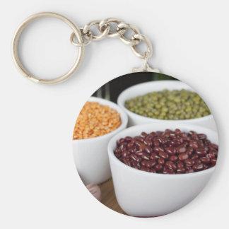 Beans and Garlic Keychain