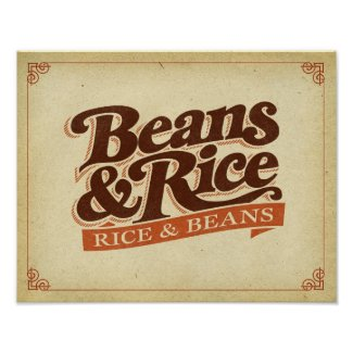 Beans and Rice (Rice and Beans) Poster