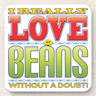 Beans Love Face Beverage Coaster