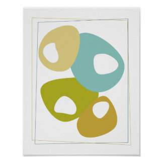 Beans Mid Century Modern Styled Poster