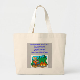 beans the nusical fruit fart rhyme jumbo tote bag