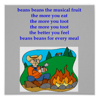 beans the nusical fruit fart rhyme poster